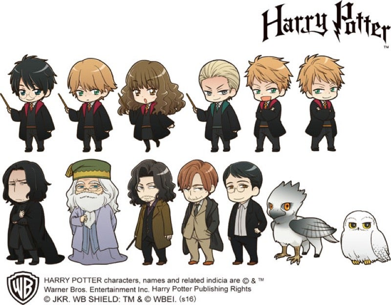 The Official Anime Versions of Harry Potter Characters
