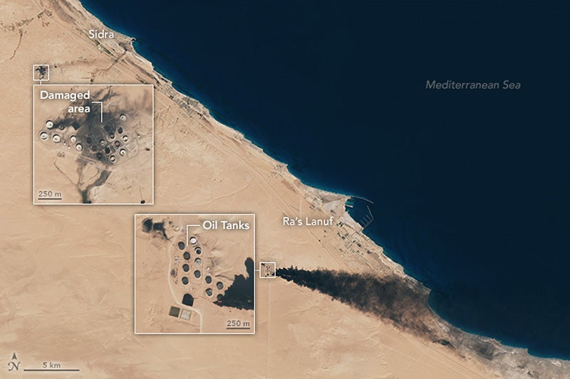 This Is What the ISIS Offensive Looks Like From Space
