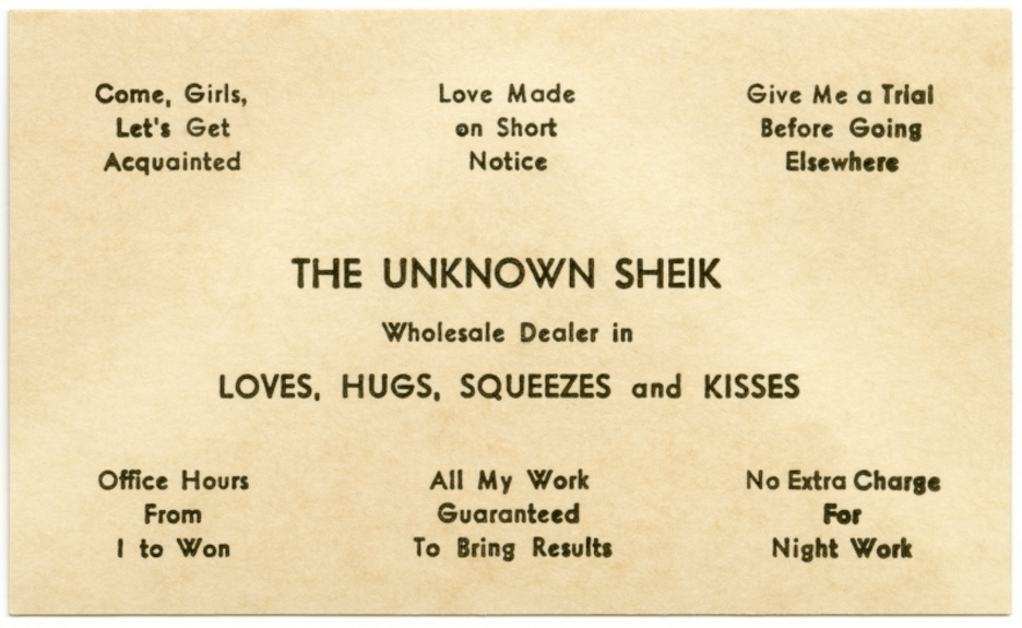 Young People Used These Absurd Little Cards to Get Laid in the 19th Century