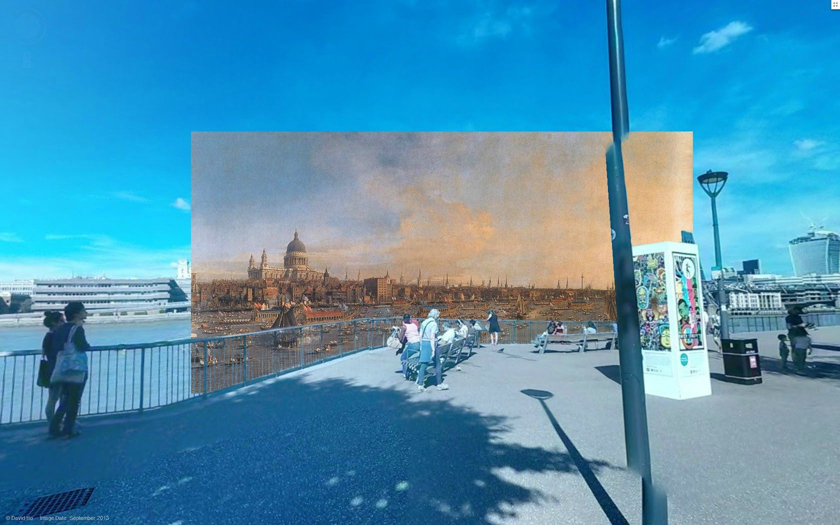 Impressive images mix classic paintings and modern London street views