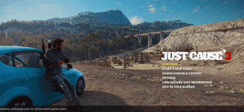Just Cause 3's Rico Never Skips Leg Day
