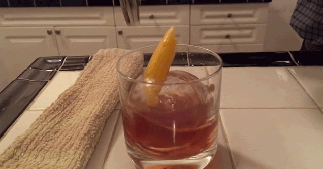 This Ice Ball Cocktail Is the Coolest Thing