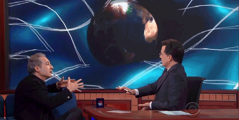 A Brilliant Physicist Explains Gravitational Waves to Colbert