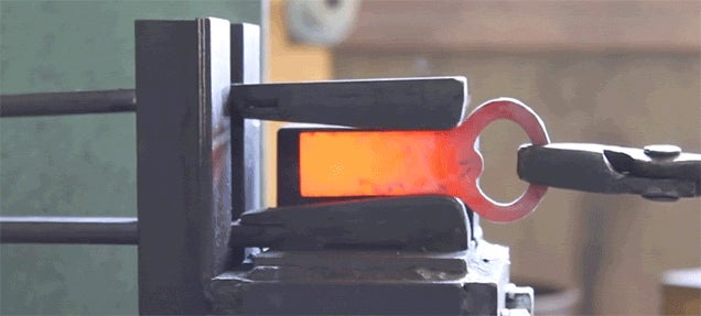 Forging a Bottle Opener from a Metal Plate