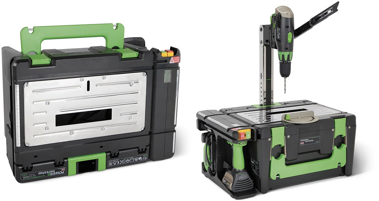 This Tiny Toolbox Transforms Into an Entire Woodshop