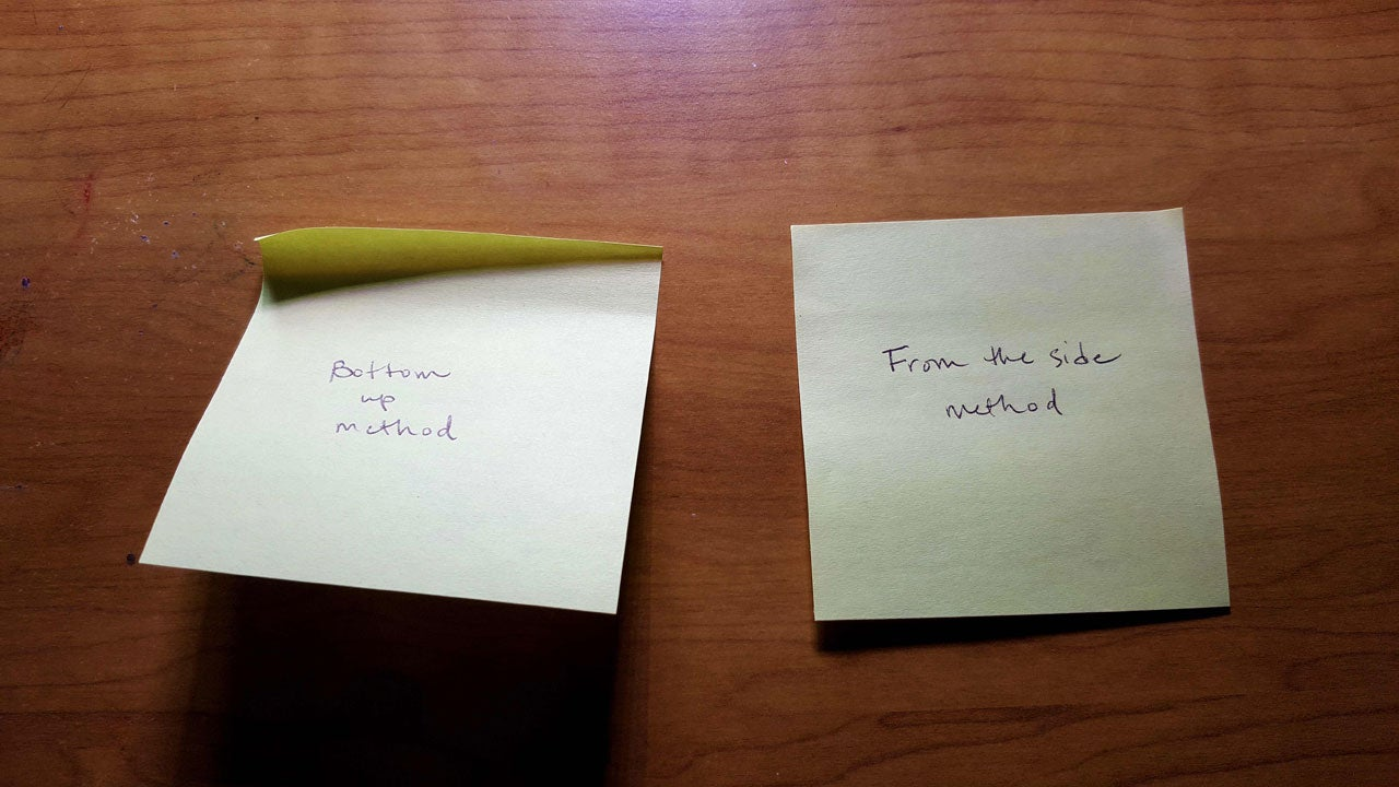 The Right Way to Peel a Sticky Note