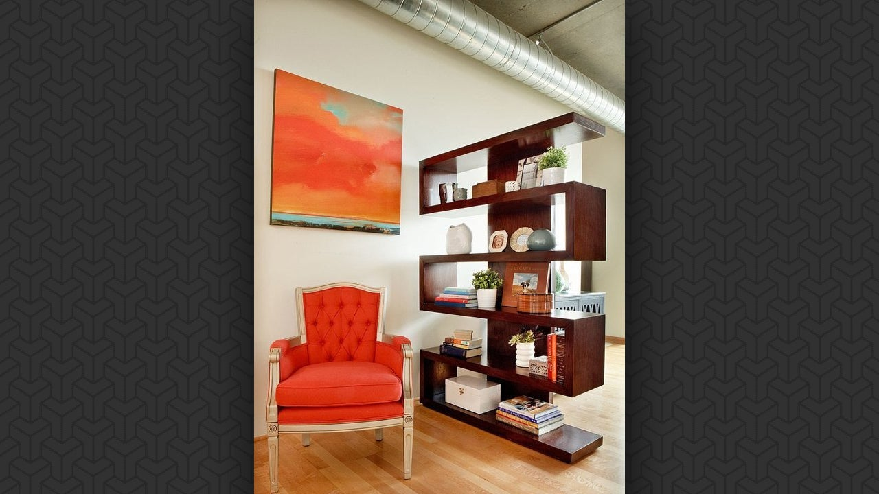 Add storage to room dividers for a small space - Room divider with storage ...