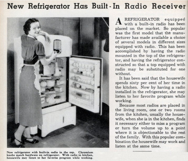 The 1930s Refrigerator-Radio Combo That Never Quite Took Off