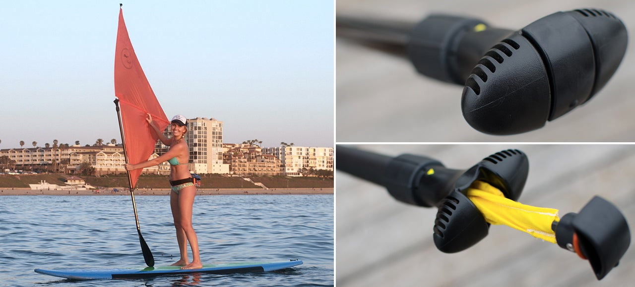 There's a Wind-Catching Sail Hidden Inside This Stand-Up Paddle