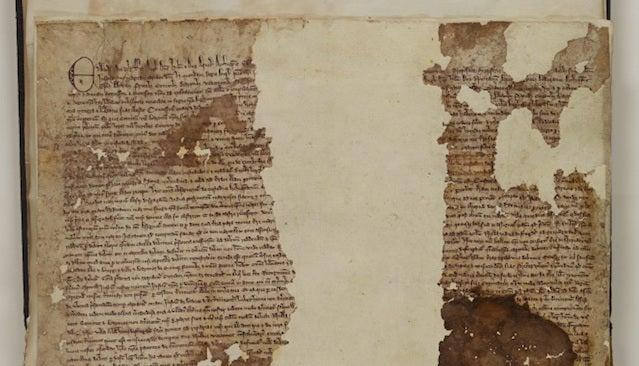 Original Copy of the Magna Carta Found in Forgotten Old Scrapbook