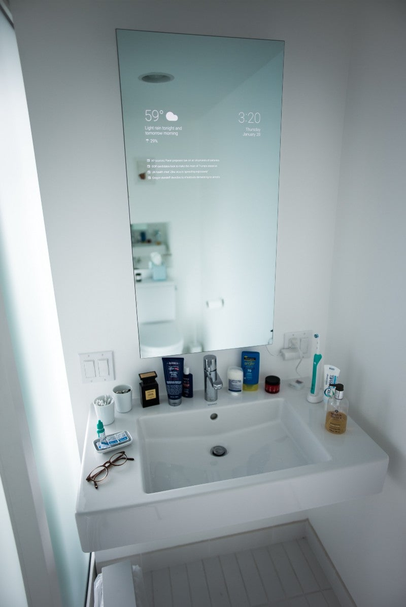 I Want This Google Now Mirror In My Bathroom Immediately