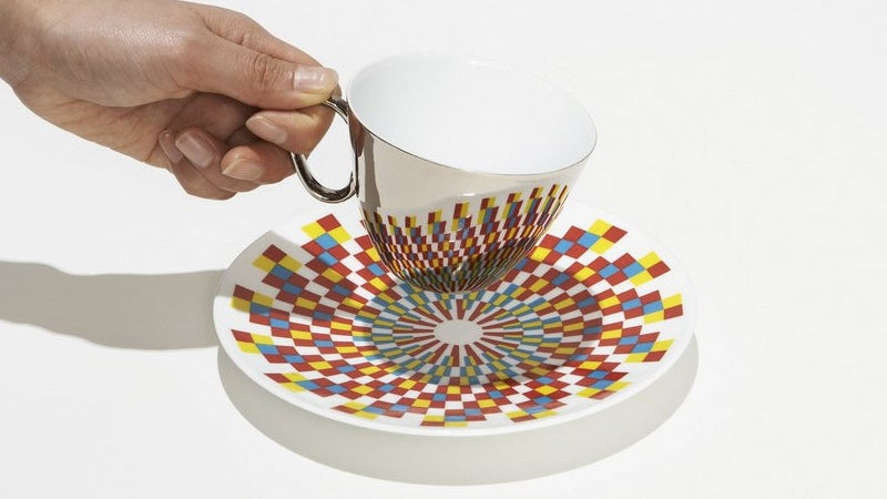 Mirrored Tea Cups Perfectly Match These Patterned Saucers