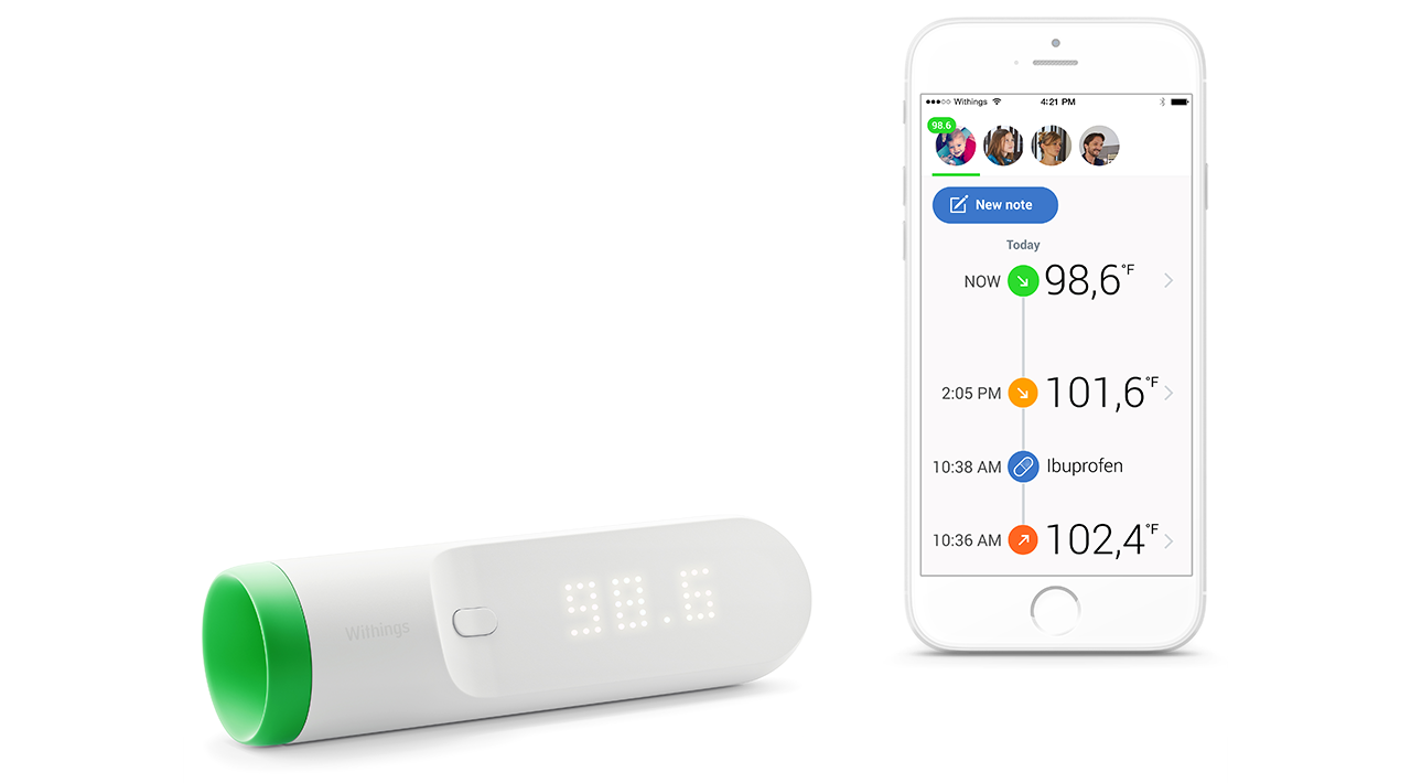 Sixteen Sensors Let Withings' New Forehead Thermometer Make Easy Instant Readings