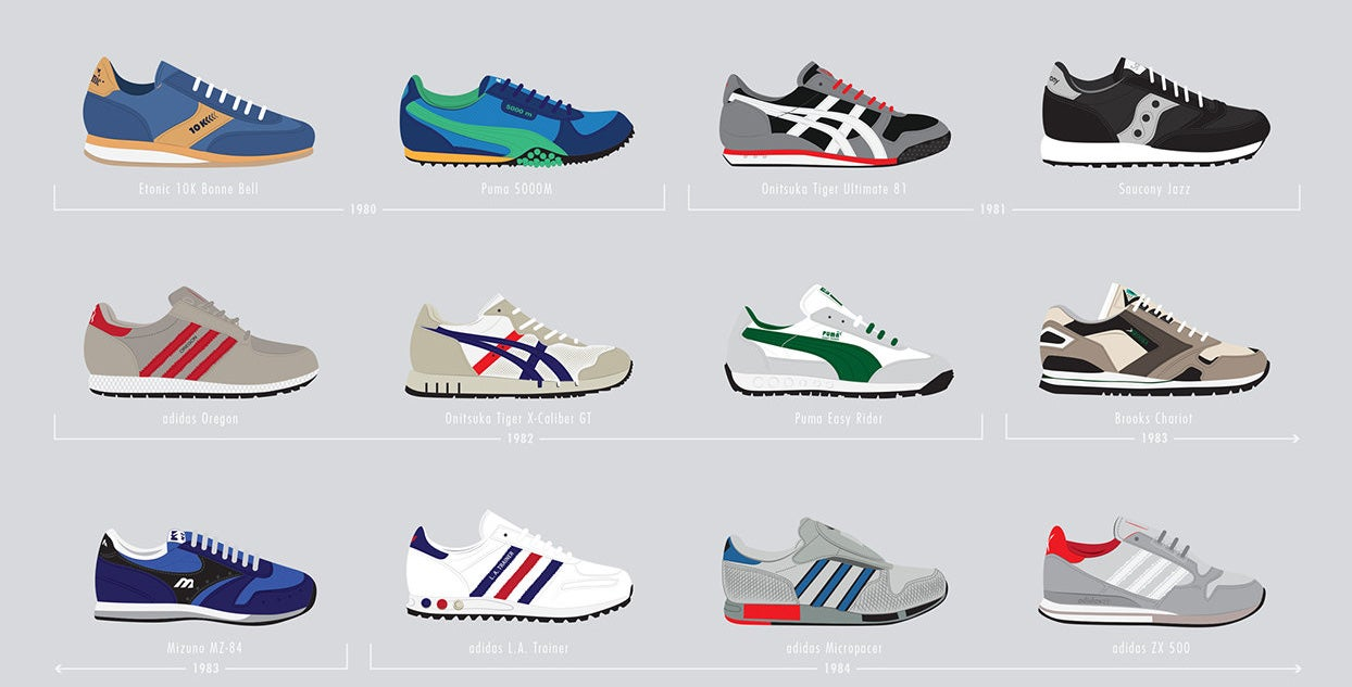 Iconic Basketball And Running Sneakers From The '80s And '90s