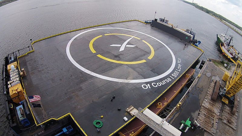 SpaceX Wants to Land a Rocket on an Ocean Barge, Yet Again