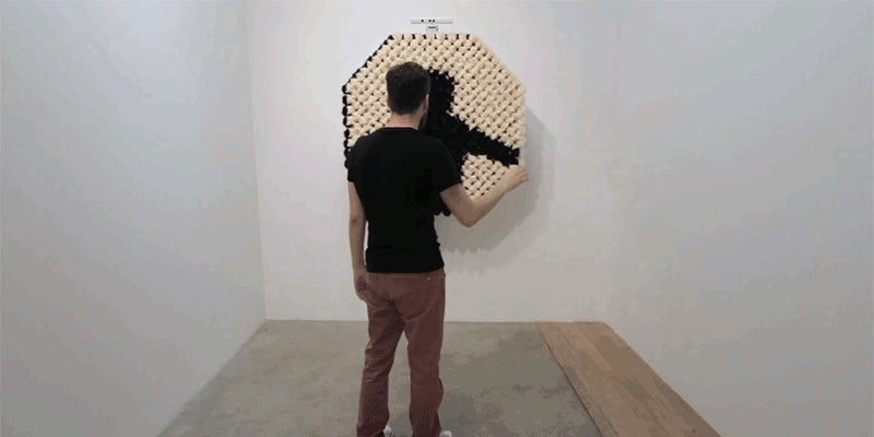 A Mirror Made of Fuzzy Pom-Poms Is a Creepy, Beautiful Thing