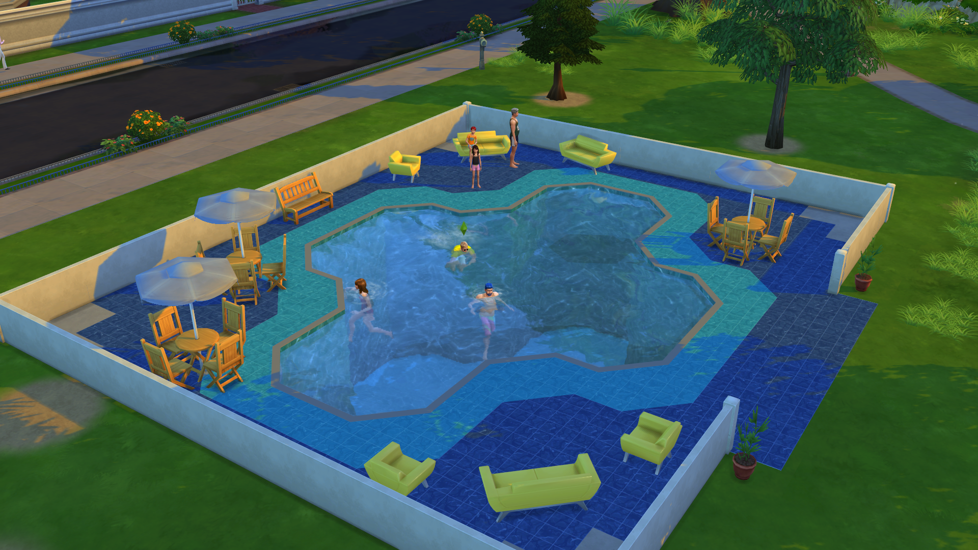 It only took me an hour to drown my sims in their new pool for Pool design sims 3