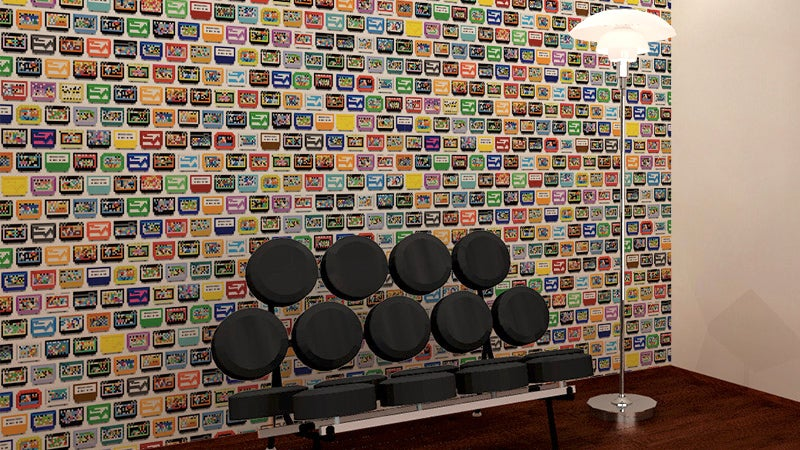 Wrap Your Walls In a Glorious Tribute To Classic Cartridge Gaming