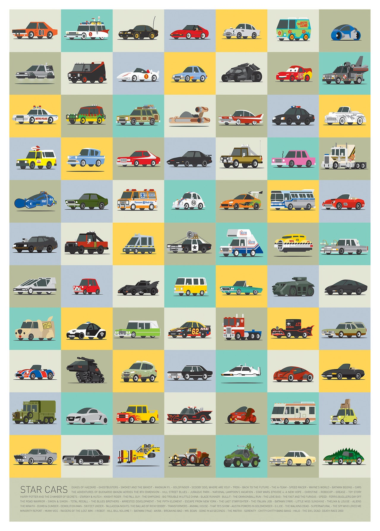 How many of these famous movie and TV cars can you recognise?