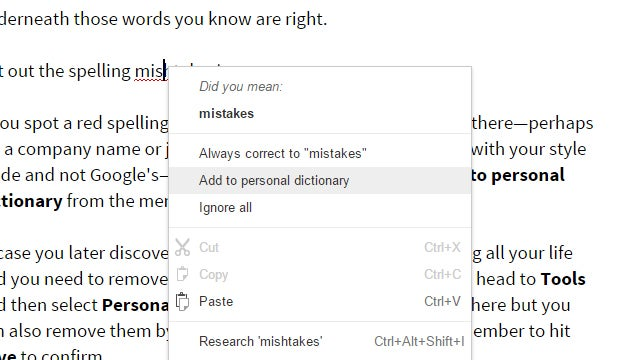How to Add (and Remove) Words From Your Google Docs Spell Checker