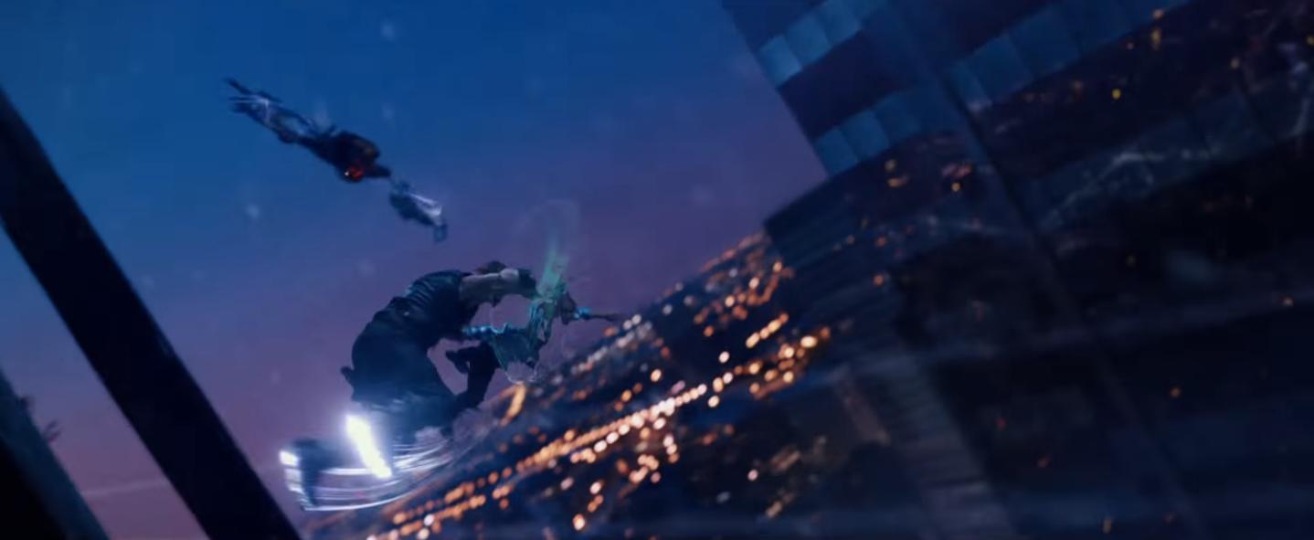Image result for jupiter ascending fight above chicago