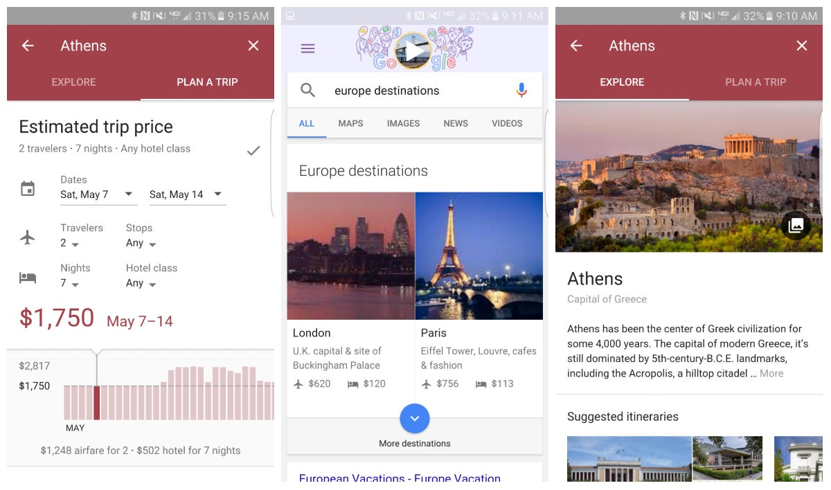 Destinations on Google Is the Ultimate Tool For Planning Your Next Vacation