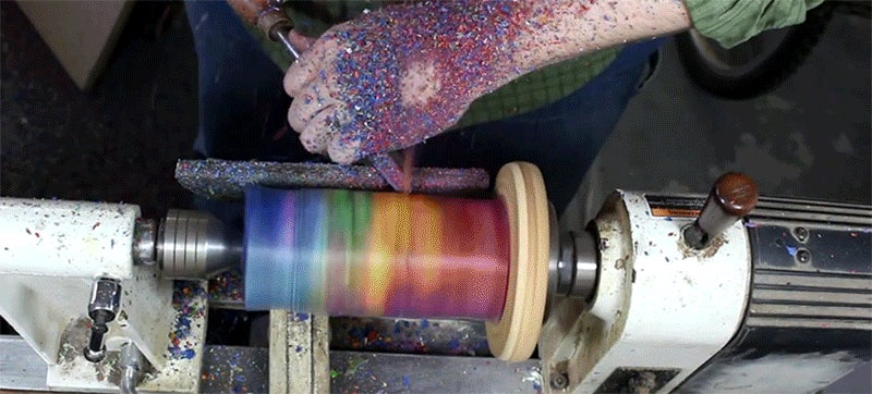 Vase Made of 256 Crayons Must Smell Amazing