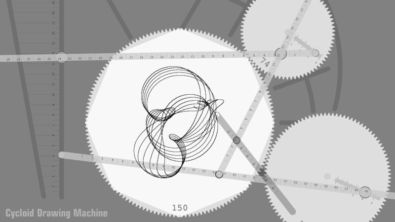 You're a Genius If You Can Figure Out This Complex In-Browser Cycloid Machine
