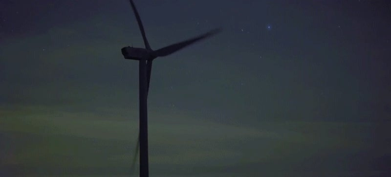 Windmills Are the Stars of This Dazzling Light Show