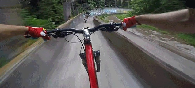 Biking Ridiculously Fast Down a Bobsled Track Is a Crazy Thing to Do