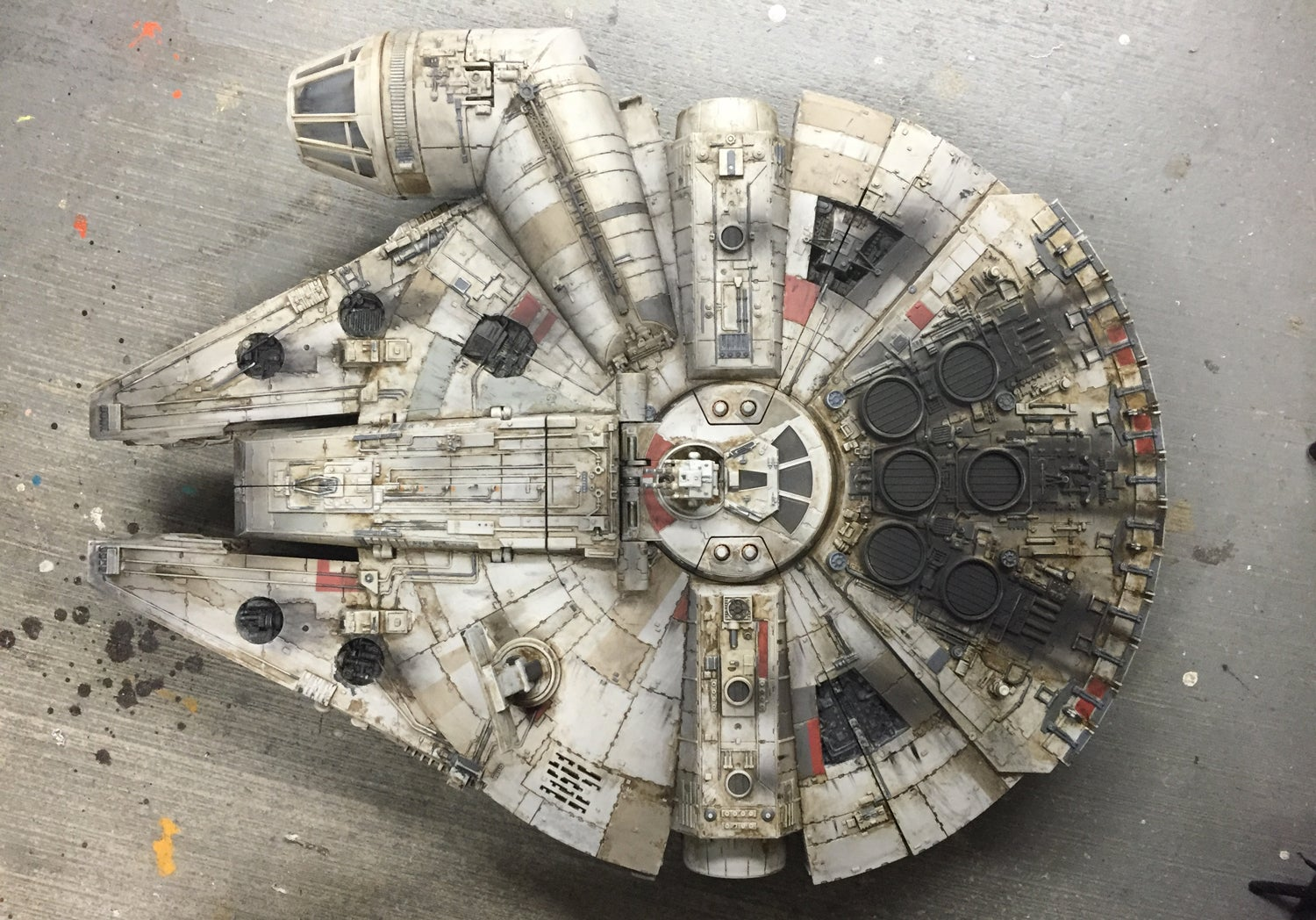 A Masterful Paint Job Makes This Millennium Falcon Toy Look Like a Star Wars Movie Prop
