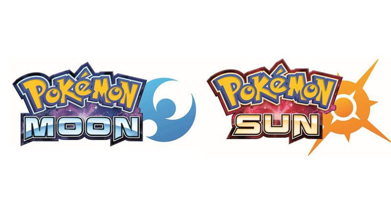 Pokémon Moon And Sun Logos Pop Up