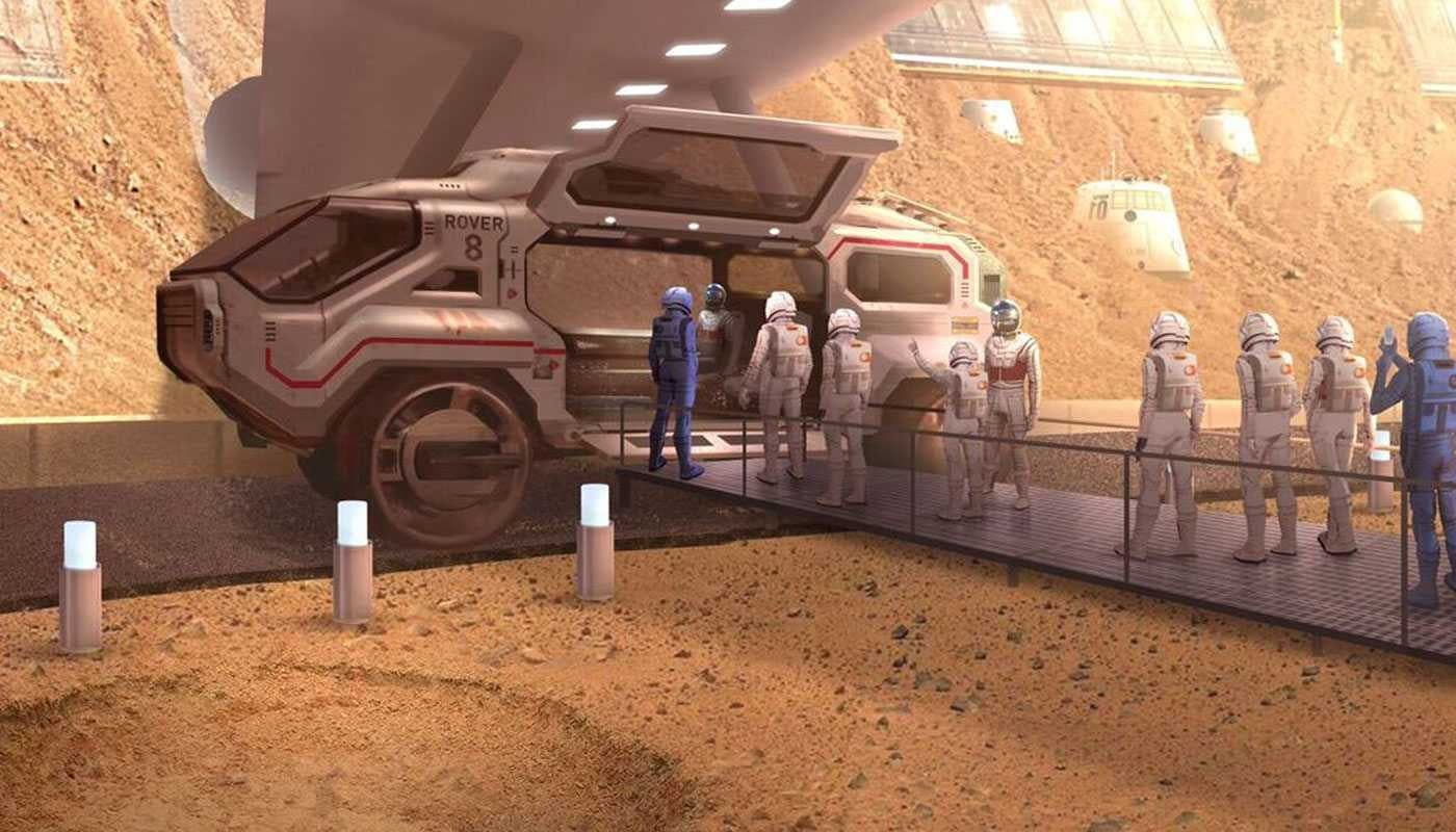 The Concept Art for Las Vegas' 'Mars World' Looks Nuts