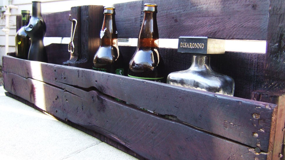This DIY Bar Shelf Is Made From Reclaimed Pallet Wood Lifehacker Australia