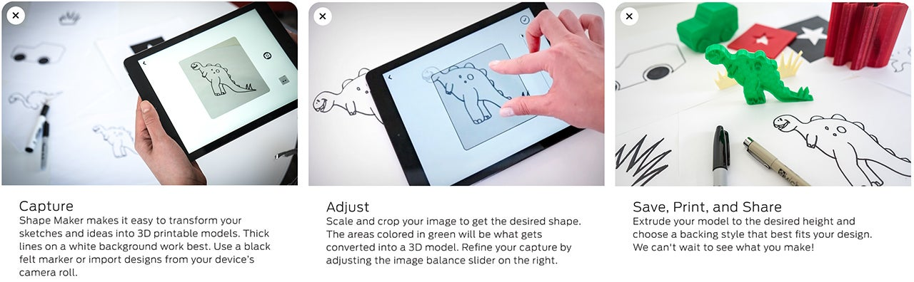 Turn Your Drawings Into 3D-Printable Models With MakerBot's iPad App