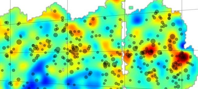 This Is The First Section Of A Giant Map Of The Universe's Dark Matter