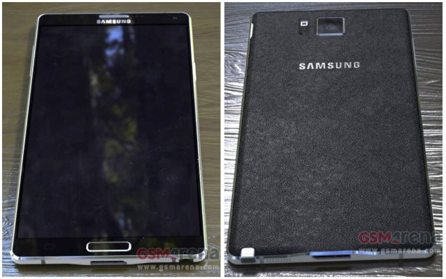 Leaked Galaxy Note 4 Images Show Off Metal And Pleather