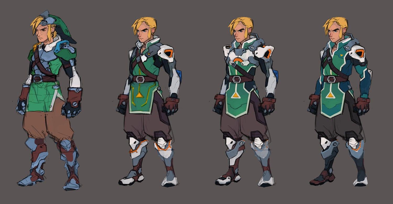 Overwatch Character Design Concept Art : Fine art if link was an overwatch character kotaku