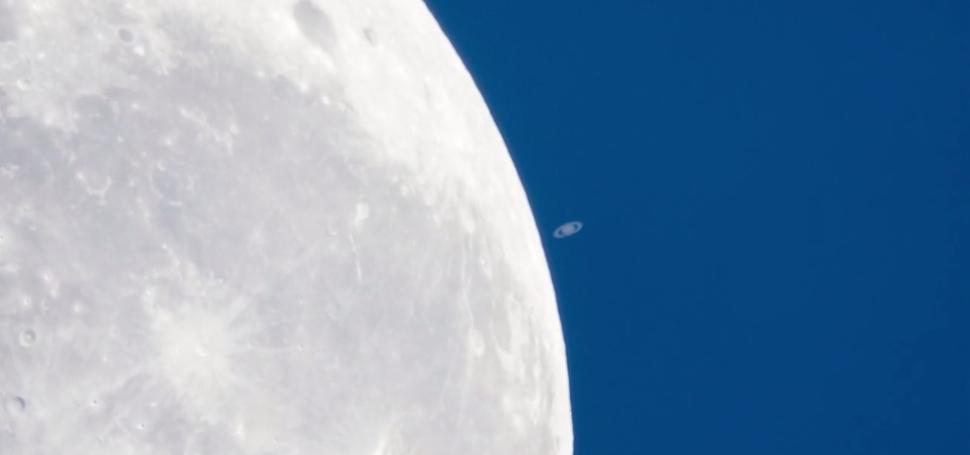 Australian Captures Extraordinary Video Of Saturn Setting On The Moon