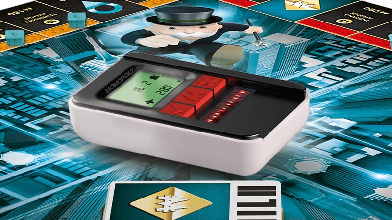 Monopoly Ultimate Banking Eliminates Cash With a Tiny ATM That Scans Property Cards
