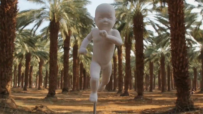 Cheer on This 3D-Printed Stop-Motion Baby As it Runs All Over the World