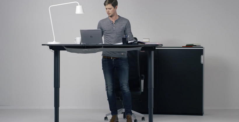 This New Ikea Desk Goes From Sit To Stand With The Push Of