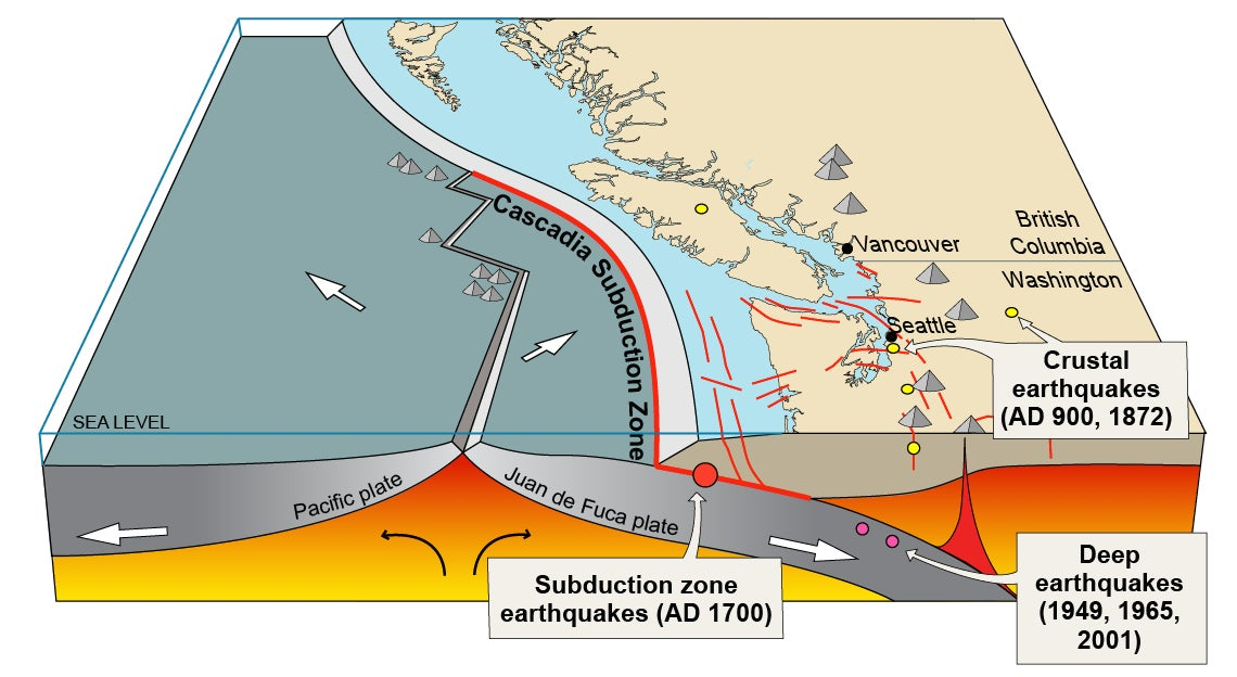 A Pair of Tremors Highlight the Different Types of West Coast Earthquakes