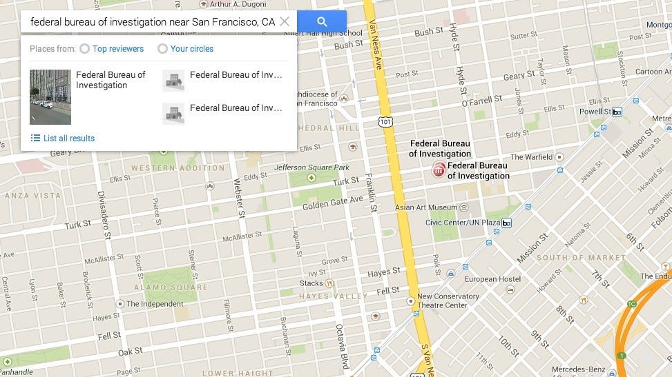 FBI And Secret Service Phone Calls Intercepted By Google Maps Exploit