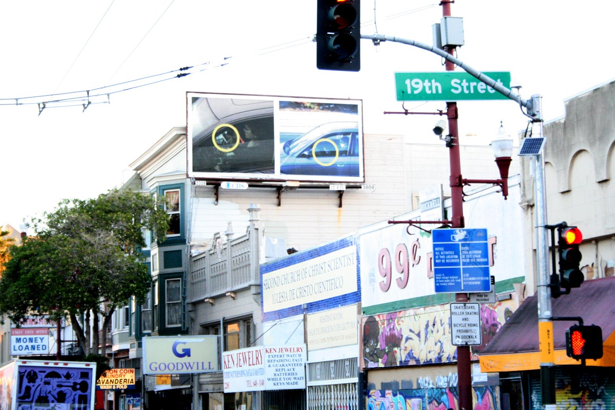 Billboards show who texts and drives