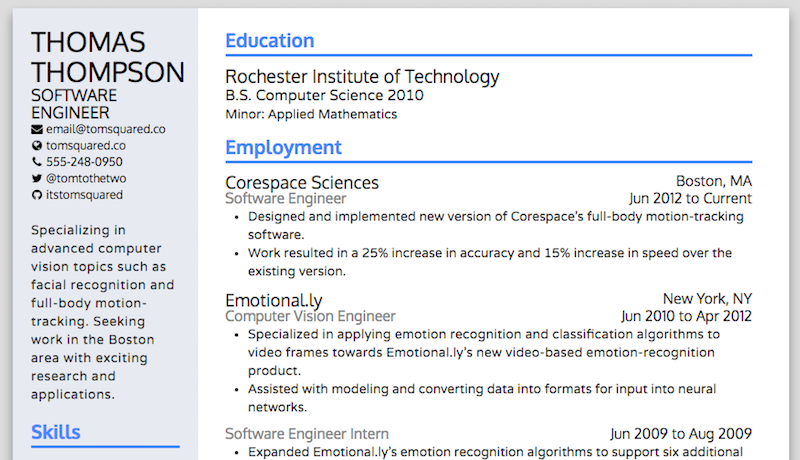 resume builder lifehacker resume ideas