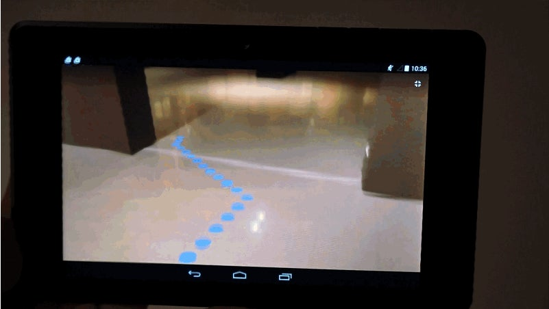 Using Nothing But Google's Project Tango Tablet To Escape A Maze