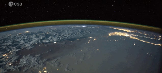Seeing Lightning Strikes from Space Is Really Beautiful