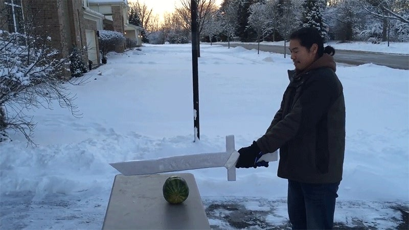How to Make a Sword Out of Ice and Toilet Paper