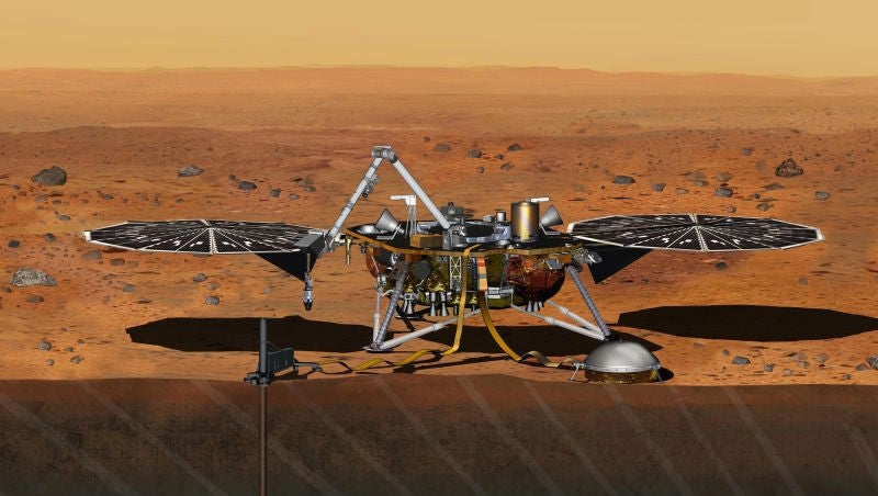 Here's the New Drilling-Lander That NASA Is Sending Up to Mars